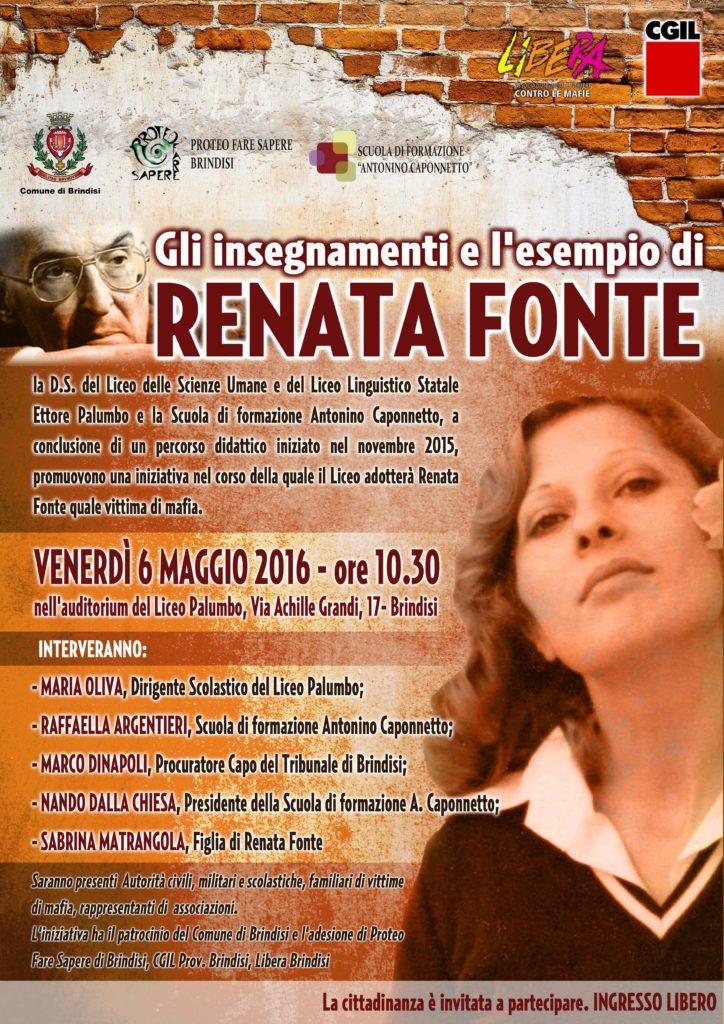 Renata Fonte - 06 maggio 2016
